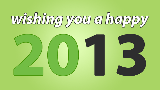 Wishing you a happy 2013